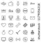 thin line vector icon set  ... | Shutterstock .eps vector #1179056218