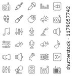 thin line vector icon set  ... | Shutterstock .eps vector #1179057742