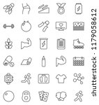 thin line vector icon set  ... | Shutterstock .eps vector #1179058612