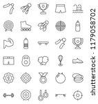 thin line vector icon set  ... | Shutterstock .eps vector #1179058702