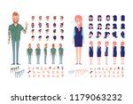 front  side  back  3 4 view... | Shutterstock .eps vector #1179063232