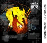 dancing people. vector... | Shutterstock .eps vector #117906328