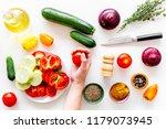 healthy food concept.... | Shutterstock . vector #1179073945