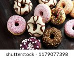 Assorted Donuts With Chocolate...