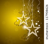 christmas background. vector. | Shutterstock .eps vector #117908626