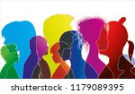 vector silhouette of... | Shutterstock .eps vector #1179089395