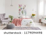 nature lover's bright bedroom... | Shutterstock . vector #1179094498