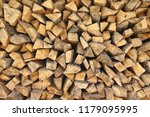 preparation of firewood for the ... | Shutterstock . vector #1179095995