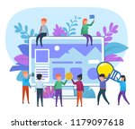 small people working around big ... | Shutterstock .eps vector #1179097618