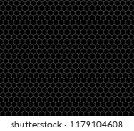 white hexagon grid on black ... | Shutterstock .eps vector #1179104608