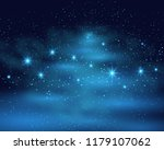 cosmic space dark sky... | Shutterstock . vector #1179107062