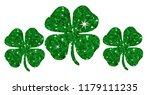 chance green glitter clovers....   Shutterstock .eps vector #1179111235