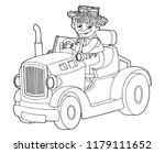 cartoon scene with farmer... | Shutterstock .eps vector #1179111652
