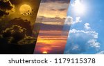 opposites in nature  day and...   Shutterstock . vector #1179115378