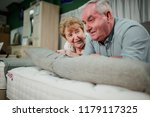 senior couple are lying on a... | Shutterstock . vector #1179117325