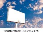 blank billboard on blue sky for ...   Shutterstock . vector #117912175