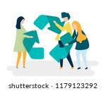 character of people holding a...   Shutterstock .eps vector #1179123292