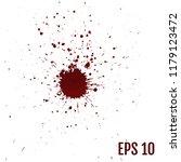 realistic blood splatters ... | Shutterstock .eps vector #1179123472