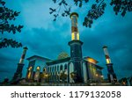 al munawar mosque  great mosque ... | Shutterstock . vector #1179132058