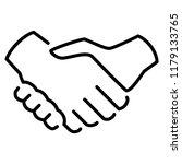 handshake icon in trendy flat... | Shutterstock .eps vector #1179133765
