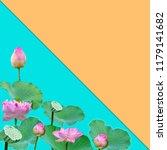 beautiful violet pink water... | Shutterstock . vector #1179141682