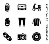 beat icons set. simple set of 9 ... | Shutterstock .eps vector #1179146245