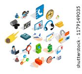 conference icons set. isometric ... | Shutterstock .eps vector #1179149035