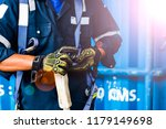 safety harness for work at... | Shutterstock . vector #1179149698