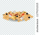 muesli with cashew nuts vector... | Shutterstock .eps vector #1179151315