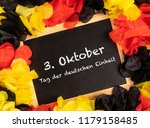 german text 3. oktober tag der... | Shutterstock . vector #1179158485