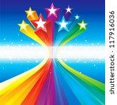 funky celebratory stars | Shutterstock .eps vector #117916036