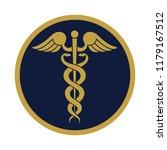 modern sign of the caduceus.... | Shutterstock .eps vector #1179167512