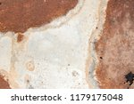 iron white wall with rust  old... | Shutterstock . vector #1179175048