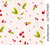 cute and cozy seamless pattern... | Shutterstock .eps vector #1179175405