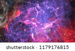 starry outer space. elements of ... | Shutterstock . vector #1179176815