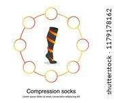 compression socks with arrows... | Shutterstock .eps vector #1179178162