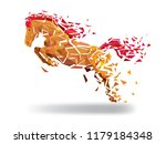 Stock vector horse low polygon geometric pattern style vector eps 1179184348