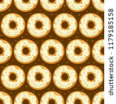seamless background with donuts ... | Shutterstock . vector #1179185158
