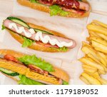 choice of three different hot... | Shutterstock . vector #1179189052
