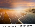 beautiful sunset over  solar... | Shutterstock . vector #1179191878