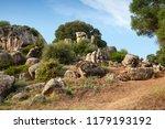 Summer Landscape With Rocks Of...
