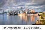 decommissioned navy ships ...   Shutterstock . vector #1179195862