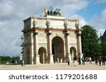 paris  france jul 23  2018  arc ... | Shutterstock . vector #1179201688
