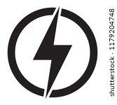 lightning  electric power... | Shutterstock .eps vector #1179204748