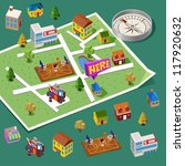 pre assembled isometric map.... | Shutterstock .eps vector #117920632