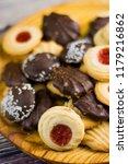 different types of cookies... | Shutterstock . vector #1179216862