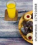 orange juice and different... | Shutterstock . vector #1179216868
