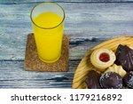 orange juice and different... | Shutterstock . vector #1179216892