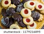 different types of cookies... | Shutterstock . vector #1179216895
