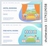 hotel room web page design... | Shutterstock .eps vector #1179219058